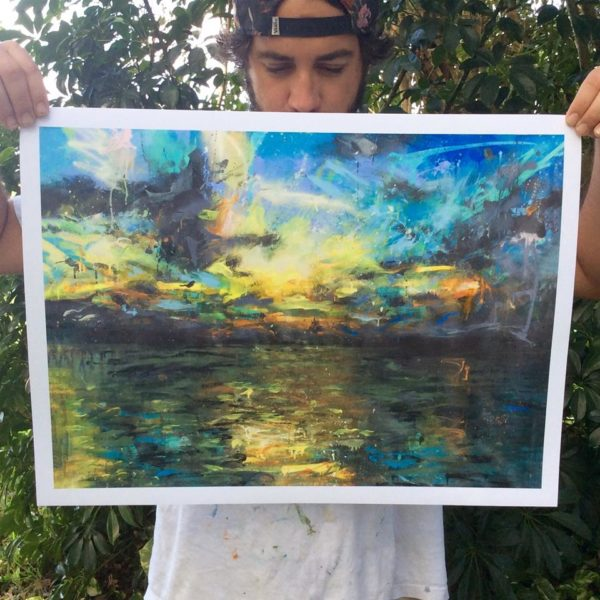"The Lagoon Limited to 100 ever made, signed and numbered. 18"" x 24"""
