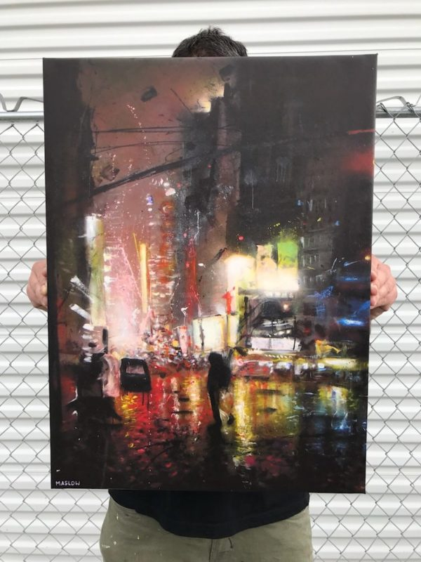 Traffic Open Edition Signed Print on Gallery Wrap stretched canvas