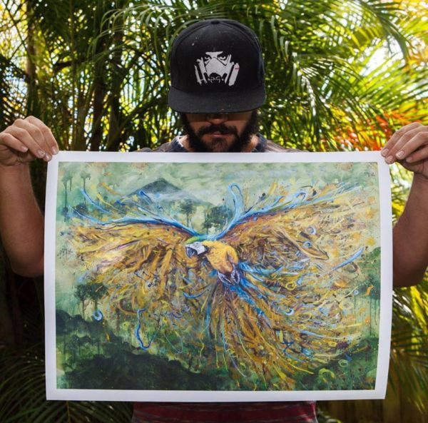 "Jungle Macaw Limited to 100 ever made, Signed and numbered. 24"" x 18"""