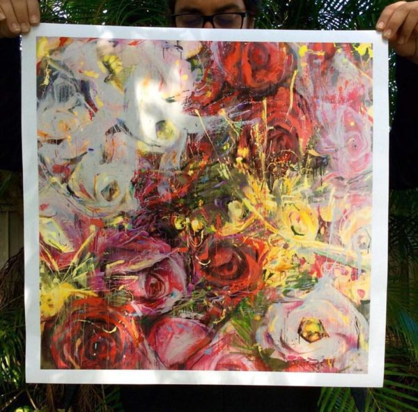 "Exploding Bouquet Limited to 100 ever made, Signed and numbered. 24"" x 24"""