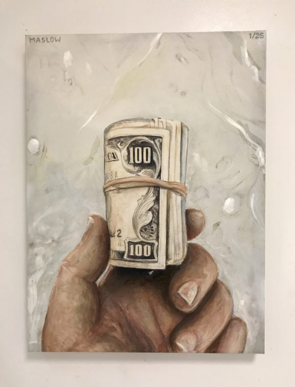 Paper Chasers 2k Hand Embellished Giclee